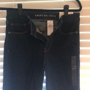 American Eagle curvy hi-rise dark jeans